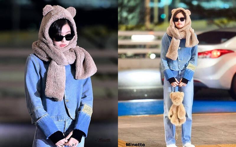Kiểu khăn mũ có gấu dễ thương