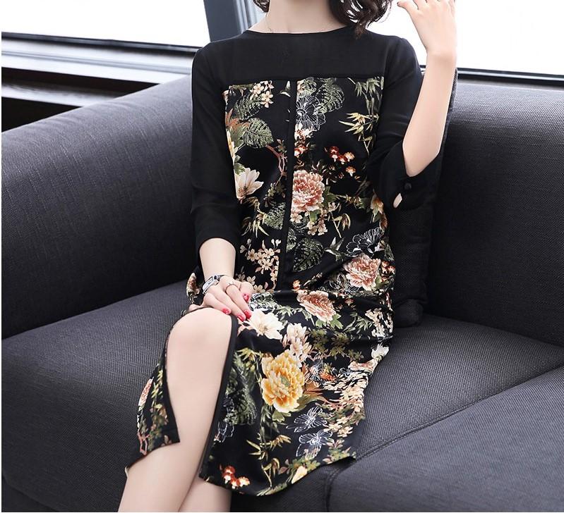 Váy đầm trung niên diện tết