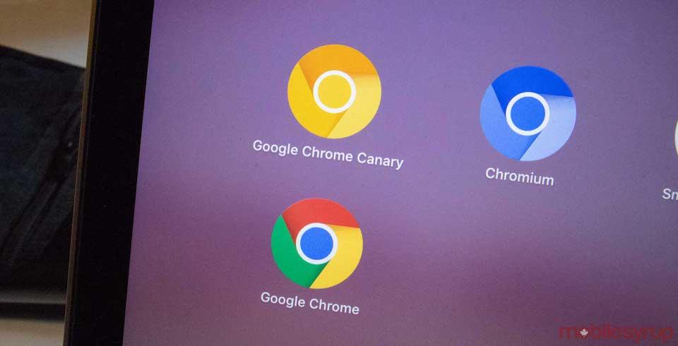 Chrome cho máy tính xách tay