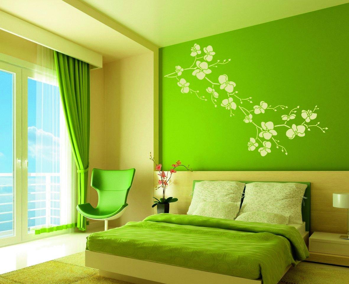 Sơn phòng ngủ đẹp màu xanh lá